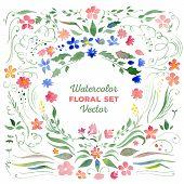 pic of floral bouquet  - Set of floral elements  - JPG