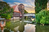 stock photo of bridge  - Nuremberg - JPG
