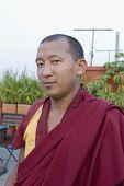 picture of por  - por trait of a monk  kathmandu nepal  - JPG