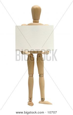 Sign Holding Mannequin poster