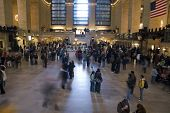 image of amtrak  - this image captures the beauty of grand central station during the busy holiday period - JPG