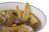 Closeup Of Chinese Herbal Soup poster