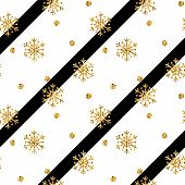 Gold Snowflake Christmas Background poster