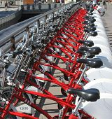 picture of por  - Parking of bicycles for hire - JPG