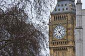 Detail view of Big Ben in London poster