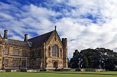 foto of quadrangles  - Gothic Revival style buildings of University of Sydney Quadrangle - JPG