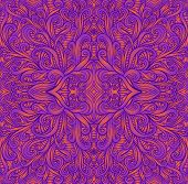 Psychedelic Vintage Trippy Colorful Fractal Mandala. Ggradient Neon Colors Orange, Purpule Bright Co poster