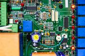 Control Electronic Motherboards Circuit, Control Electronic Circuits, Technology poster