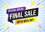 Special Offer Final Sale Tag. Banner Design Template For Marketing. Special Offer Promotion Or Retai poster