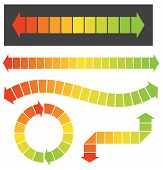 Set Of 5 Colorful Arrow Or Graph Elements These Colorful Arrow Illustrations Are Great For Infograph poster