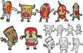 image of witch-doctor  - tribal men cartoon collection  - JPG