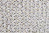 Yellow Knitting Pattern Or Knitted Pattern Background In Macro Style. Knitting Pattern Or Knitted Pa poster
