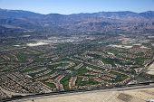 image of snowbird  - Aerial view of Palm Desert in the Coachella Valley California - JPG