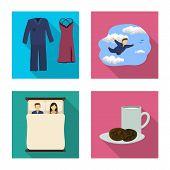 Vector Design Of Dreams And Night Icon. Collection Of Dreams And Bedroom Vector Icon For Stock. poster