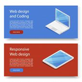 Design Concepts For Advertising Programming And Coding Device. Website Development, Web Design. Mode poster