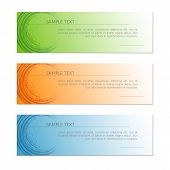 Card With Abstract Radial Circle Lines Tech Lines On A Orange Blue Green Background Creative Technol poster