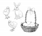 image of easter bunnies  - Hand - JPG