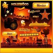 Постер, плакат: Голливудская кино фильм элементы коллекции