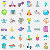 Device Icons Set. Cartoon Style Of 36 Device Vector Icons For Web For Any Design poster