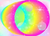 Fluid Dynamic Background With Vibrant Rainbow Gradients. Dynamic Hologram. Holographic Cosmos. Desig poster