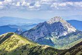Big Rozsutec Peak And Litlle Rozsutec Peak, Little Fatra, Slovak Republic. Hiking Theme. Seasonal Na poster