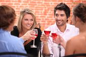 picture of posh  - Two couple at a restaurant - JPG