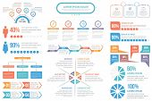 Infographic Elements - Steps And Options, People Infographics, Flowchart, Timeline, Circle Infograph poster