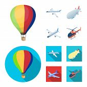 Isolated Object Of Transport And Object Icon. Collection Of Transport And Gliding Vector Icon For St poster