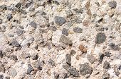 Pebble Stone Pavement Texture. Old Stone Pavement Background Textures. Top View. Stone Pavement Seam poster