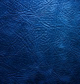 stock photo of buckskin  - blue leather texture ideal for a background - JPG