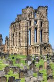 pic of tyne  - Overlooking the North Sea and the River Tyne Tynemouth Castle and Priory on the coast of North East England was once one of the largest fortified areas in England - JPG