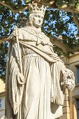 picture of anjou  - Statue of King Rene of Anjou Aix - JPG