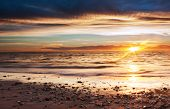 image of diffraction  - Sunset at west beach - JPG