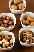foto of mixed nut  - Small pots of mixed nuts and seeds - JPG