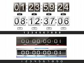 picture of countdown timer  - 4 digital countdown timer in the vector - JPG