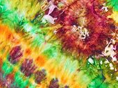 stock photo of batik  - abstract floral ornament of nodular painted batik - JPG