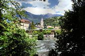 stock photo of south tyrol  - View on the Passer with rapids - JPG