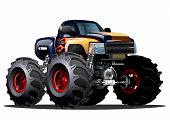pic of monster-truck  - Cartoon Monster Truck - JPG