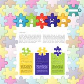 Puzzle Theme Website Template Design