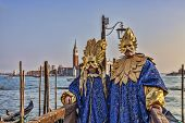 Venetian Disguised Couple