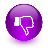 pic of dislike  - dislike internet icon - JPG