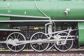 stock photo of train-wheel  - Close up Old train vintage Train wheel - JPG