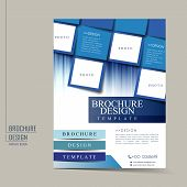 stock photo of enterprise  - modern geometric style flyer template for business advertising brochure - JPG
