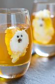 picture of jello  - Ghost Jello Treats for Halloween - JPG