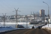 image of kama  - Kama hydro electric station in the city of Perm - JPG