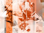 pic of afterburner  - abstract orange and grey background for modern design - JPG
