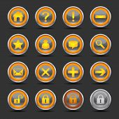 Shiny Orange Icons - Set 1 - Web