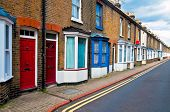 foto of row houses  - Typical row of english working man houses in Canterbury - JPG