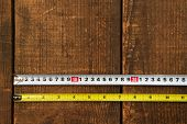image of measuring height  - Inch measure and metric measure side by side - JPG