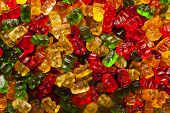 foto of gummy bear  - Colorful Fruity Gummy Bears Ready to Eat - JPG